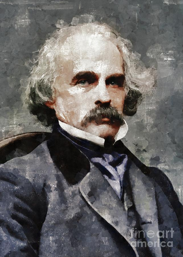 Nathaniel Painting - Nathaniel Hawthorne, Author by Esoterica Art Agency