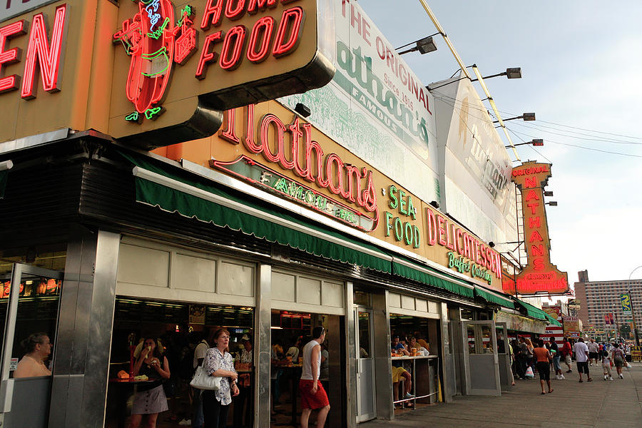 Nathan's Famous Hot Dog Stand #2 by Ann Murphy