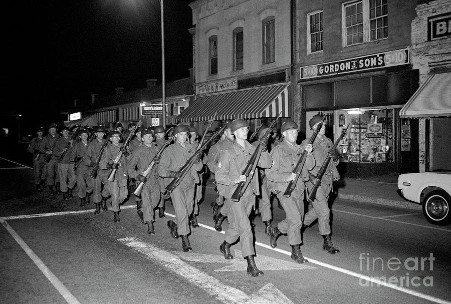 National Guard Marching With Rifles Photograph by Bettmann