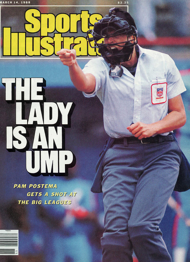 National League Umpire Pam Postema Sports Illustrated Cover Photograph by Sports Illustrated