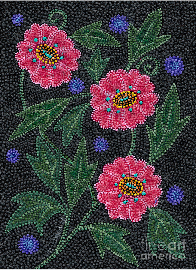Native American Beadwork, Prairie Rose by Chholing Taha