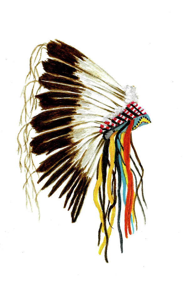 Native American Crow Headdress by Michael Vigliotti