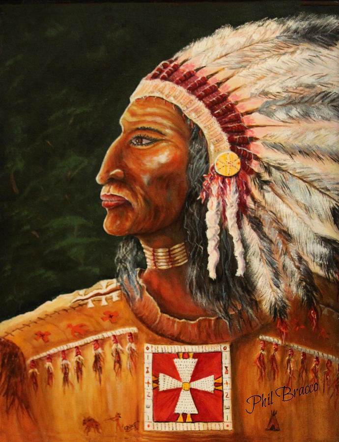 Native American Indian Chief by Philip Bracco