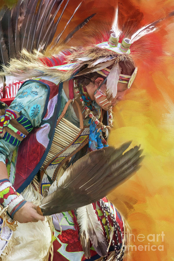 Native American Indian Dancer by Jean Kirby