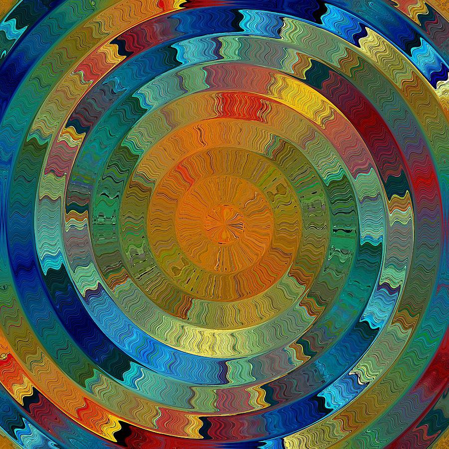Digital Digital Art - Native Sun by David Manlove