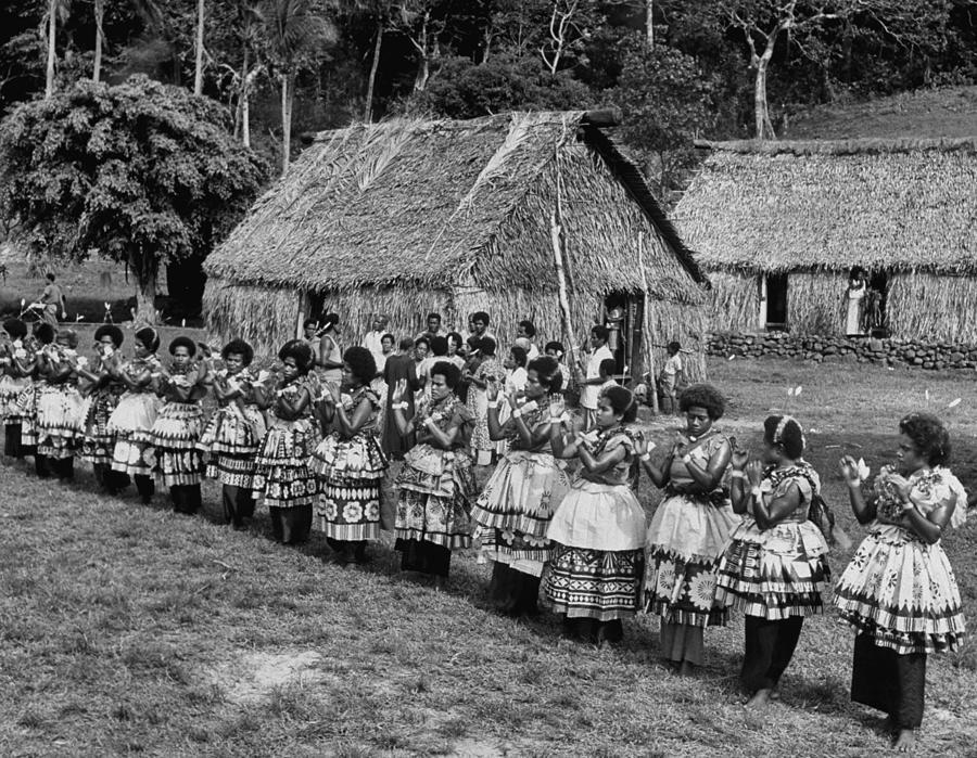 Native Women Performing Ceremonial Dance Photograph by Eliot Elisofon