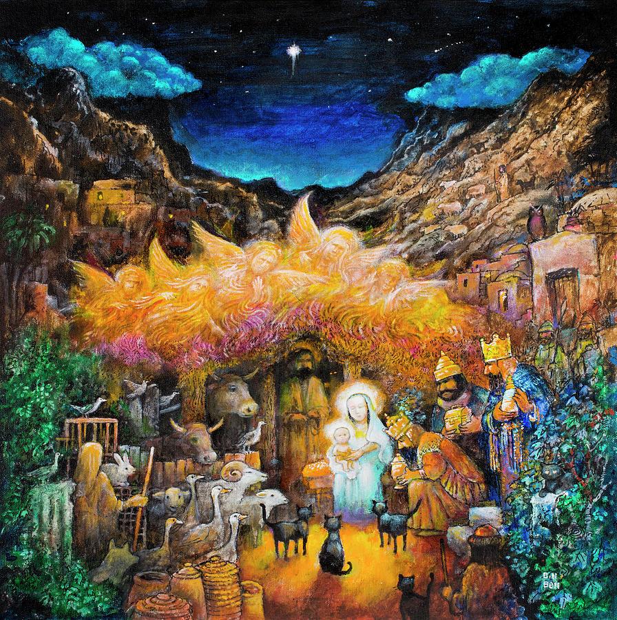 Nativity Painting - Nativity by Bill Bell