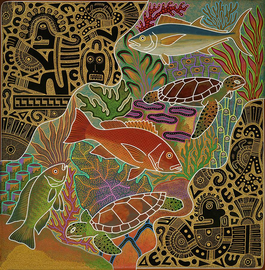 Turtle Mixed Media - Nativo Sea by Atlantis