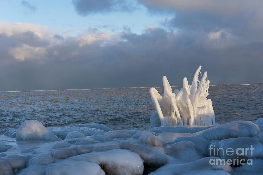Natural Ice Sculpture by Randall Saltys
