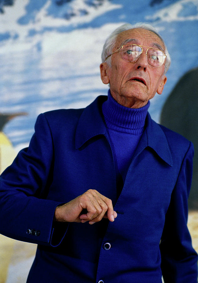 Naturalist Jacques Cousteau by Shaun Higson