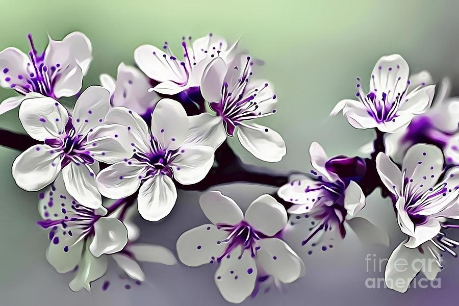Female Digital Art - Naturalness And Flowers 33 by Leo Rodriguez