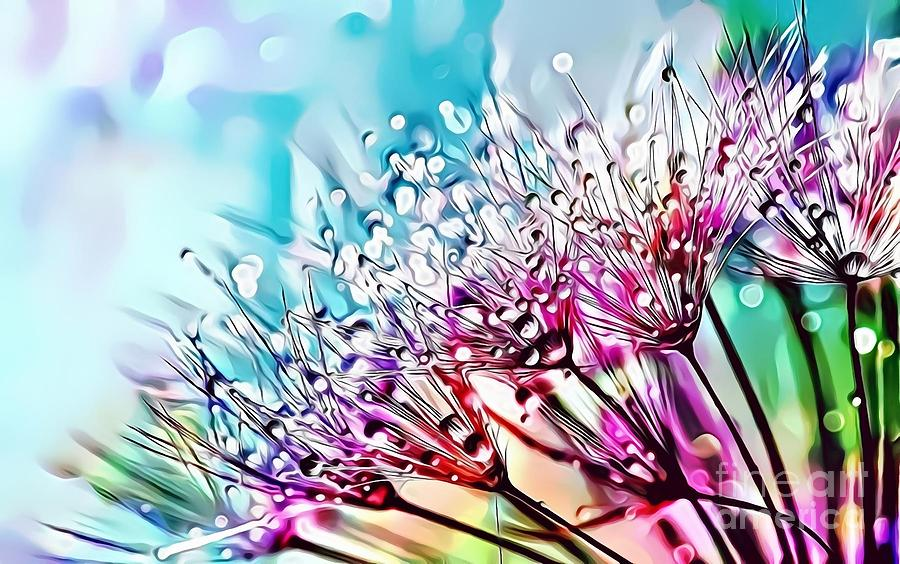 Female Digital Art - Naturalness And Flowers 45 by Leo Rodriguez