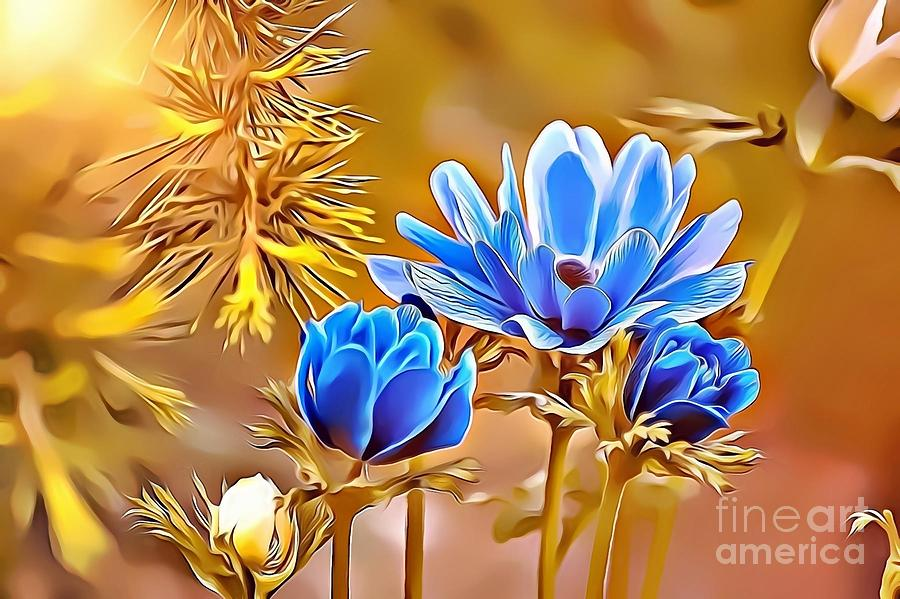 Female Digital Art - Naturalness And Flowers 47 by Leo Rodriguez