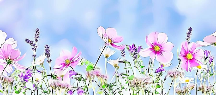 Female Digital Art - Naturalness And Flowers 59 by Leo Rodriguez