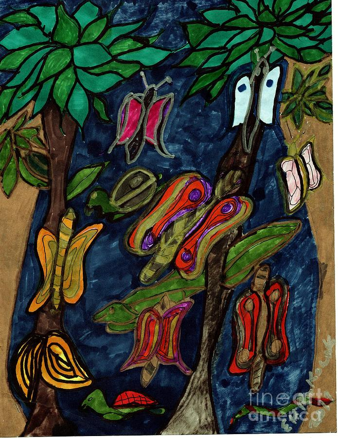 Natures Wonder Mixed Media by Elinor Helen Rakowski