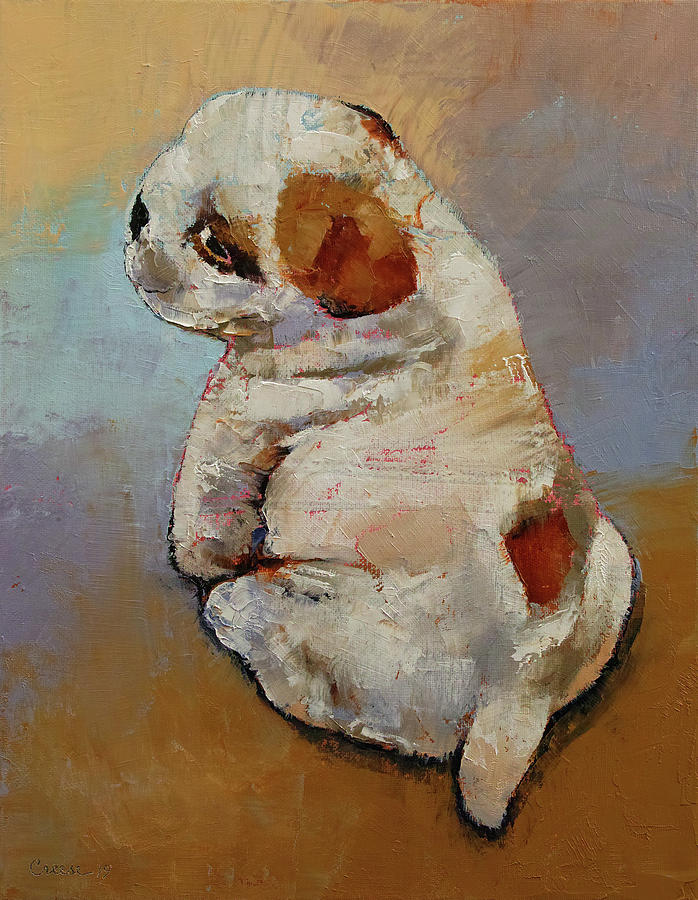 Naughty Painting - Naughty Puppy by Michael Creese