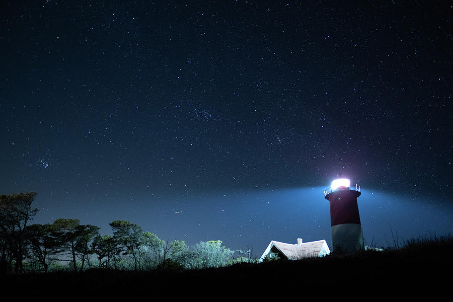 Nauset Light under the stars by Kyle Lee