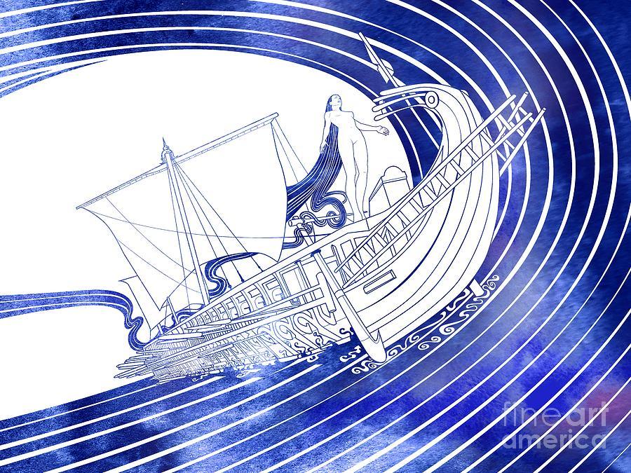 Aqua Mixed Media - Nausithoe by Stevyn Llewellyn