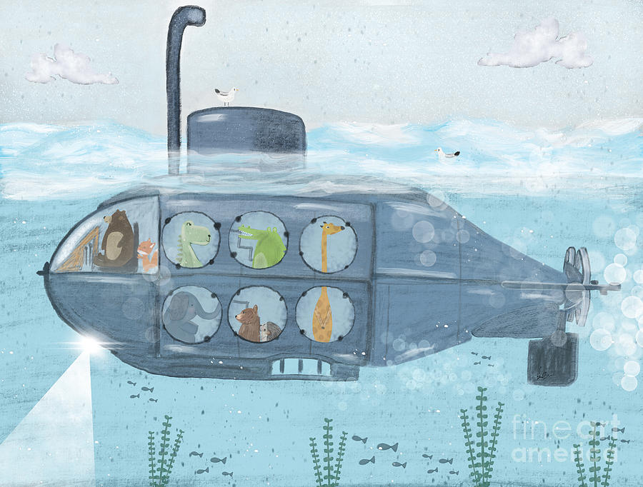Childrens Painting - Nautical Explorers by Bri Buckley