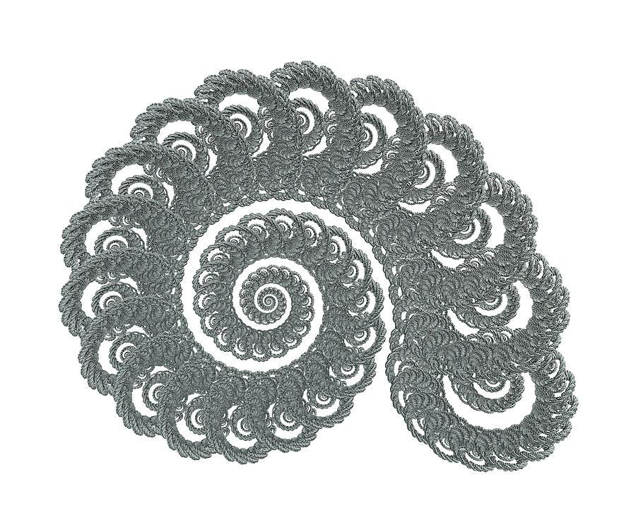 Fractal Digital Art - Nautical Symbols The Shell Rope by Betsy Knapp