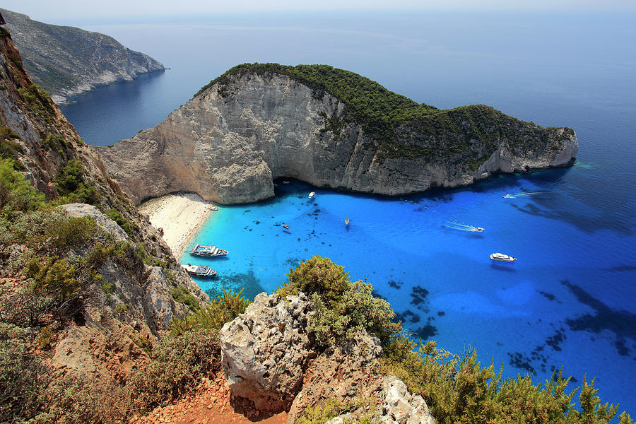 Navagio Beach Shipwreck Cove Zakynthos by Dave Porter Peterborough Uk
