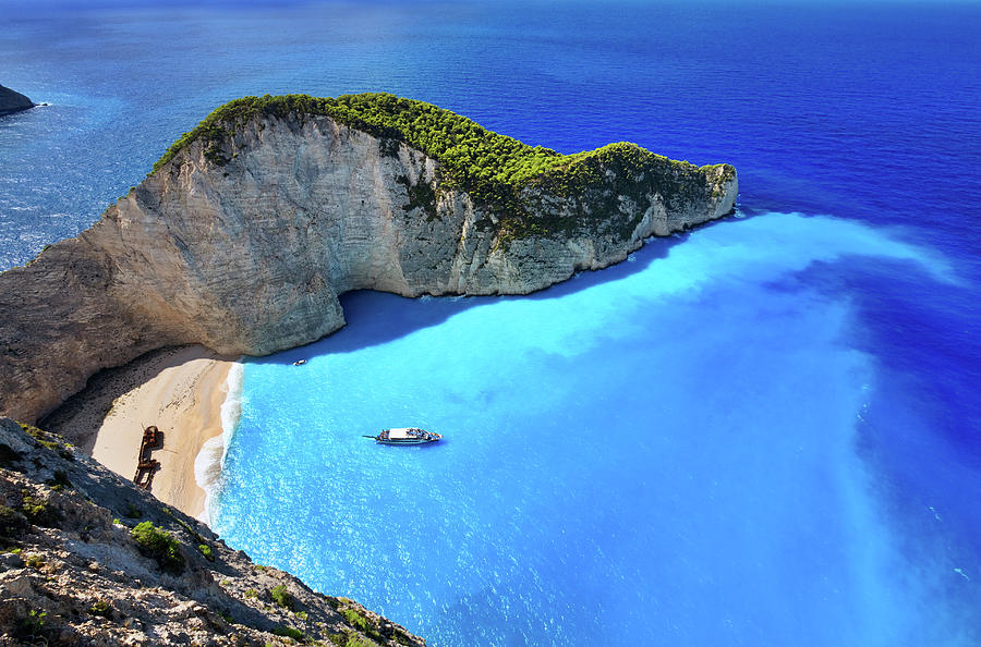 Navagio Beach, Zakynthos Island, Greece Photograph by Rusm