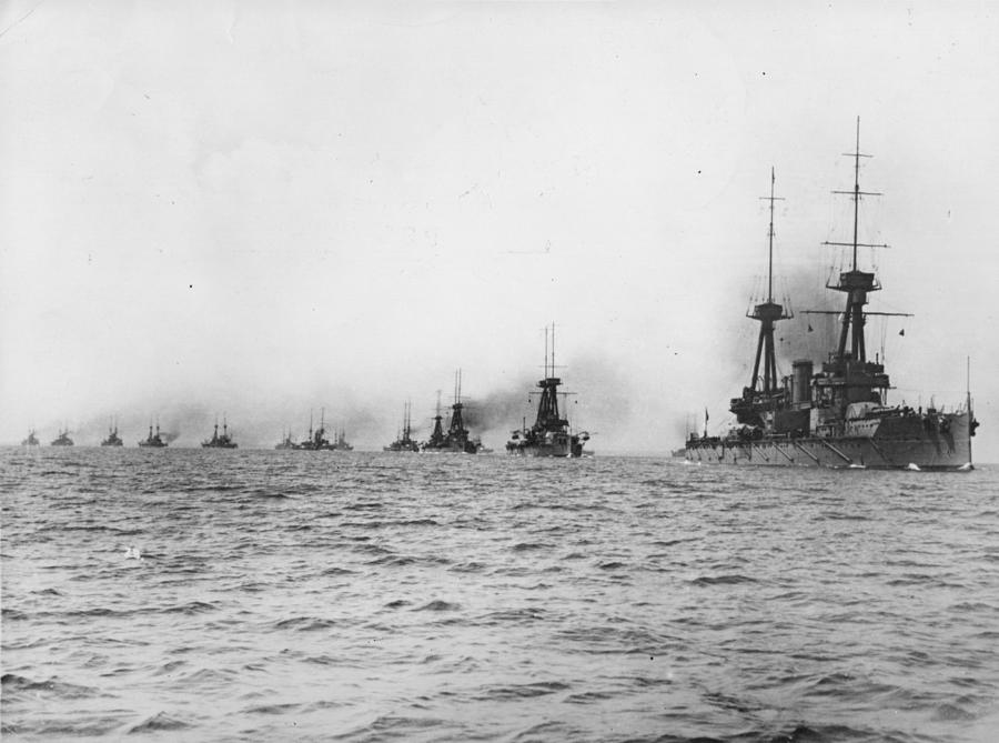Naval Review Photograph by Hulton Archive