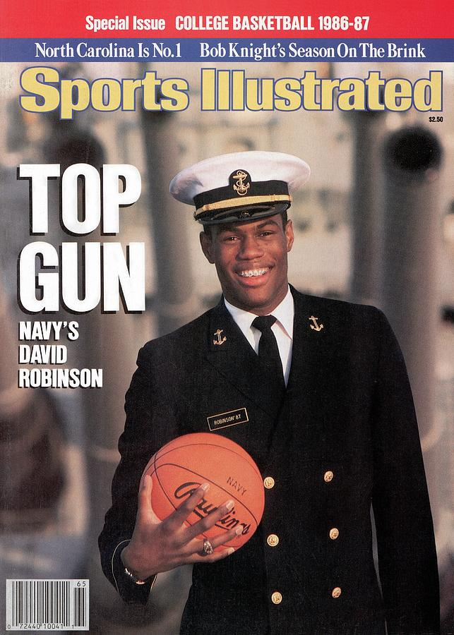 Navy David Robinson, 1986 College Basketball Preview Sports Illustrated Cover Photograph by Sports Illustrated