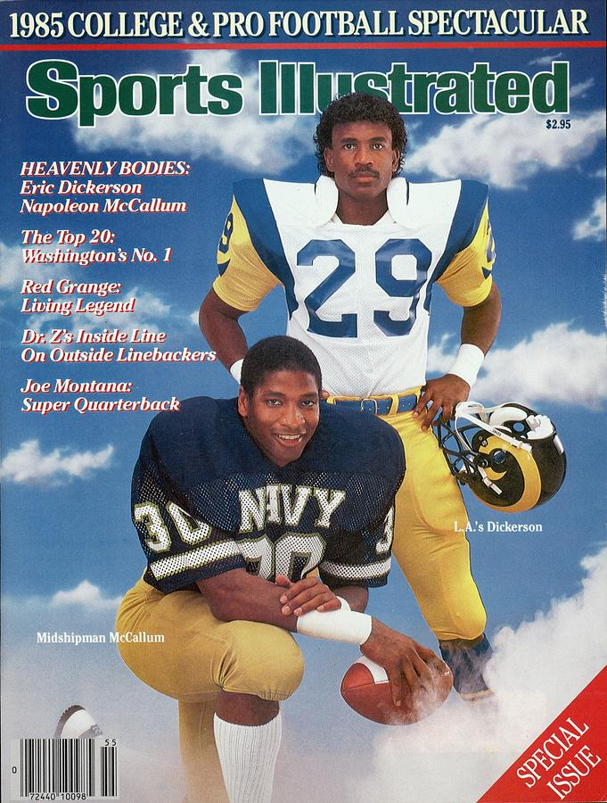 Navy Napoleon Mccallum And Los Angeles Rams Eric Dickerson Sports Illustrated Cover Photograph by Sports Illustrated