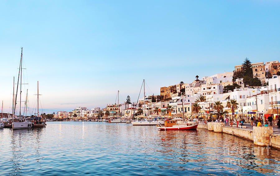 City Photograph - Naxos Old Town After Sunset, Greece by Justin Black