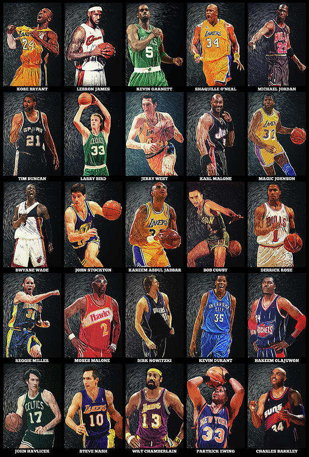 Nba Legends Digital Art