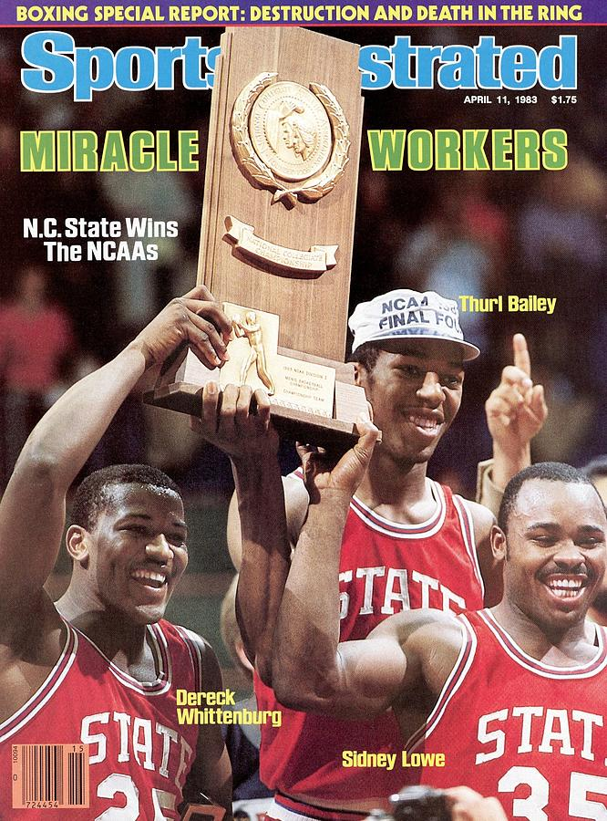 Nc State Dereck Whittenburg, Thurl Bailey, And Sidney Lowe Sports Illustrated Cover Photograph by Sports Illustrated