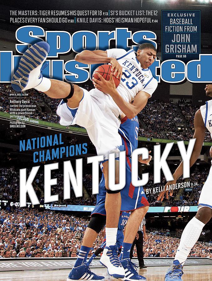 Magazine Cover Photograph - Ncaa Basketball Tournament - Final Four - Championship Sports Illustrated Cover by Sports Illustrated