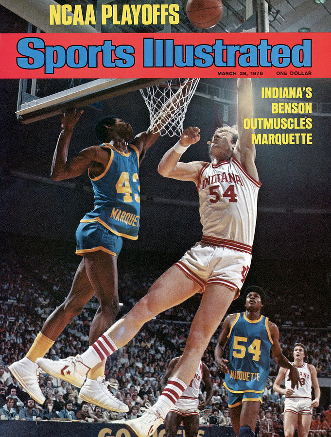 Ncaa Playoffs Indianas Benson Outmuscles Marquette Sports Illustrated Cover Photograph by Sports Illustrated