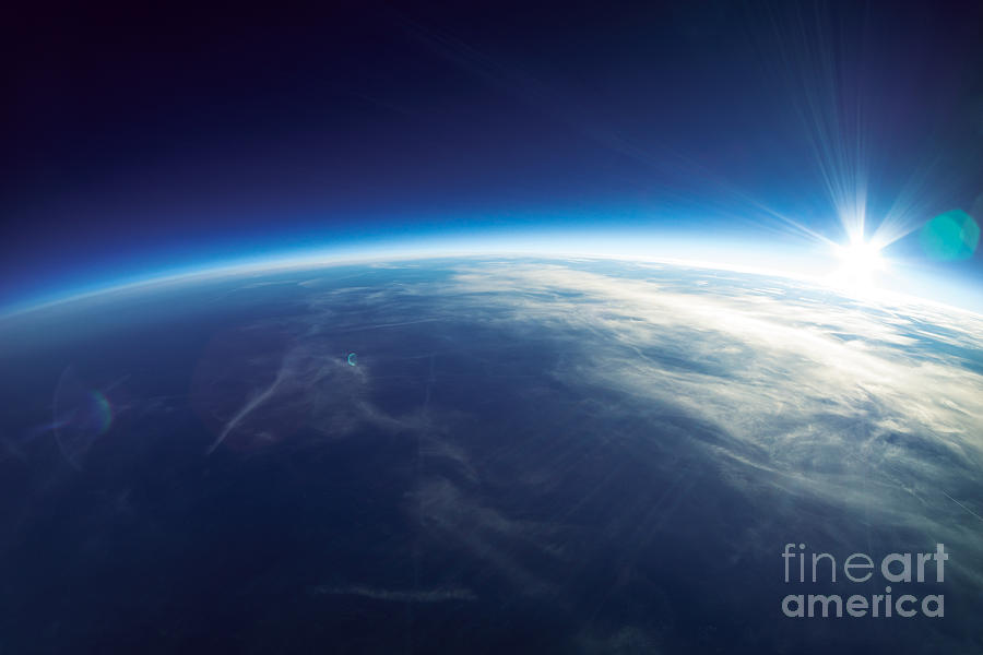Atmosphere Photograph - Near Space Photography - 20km Above by Im photo