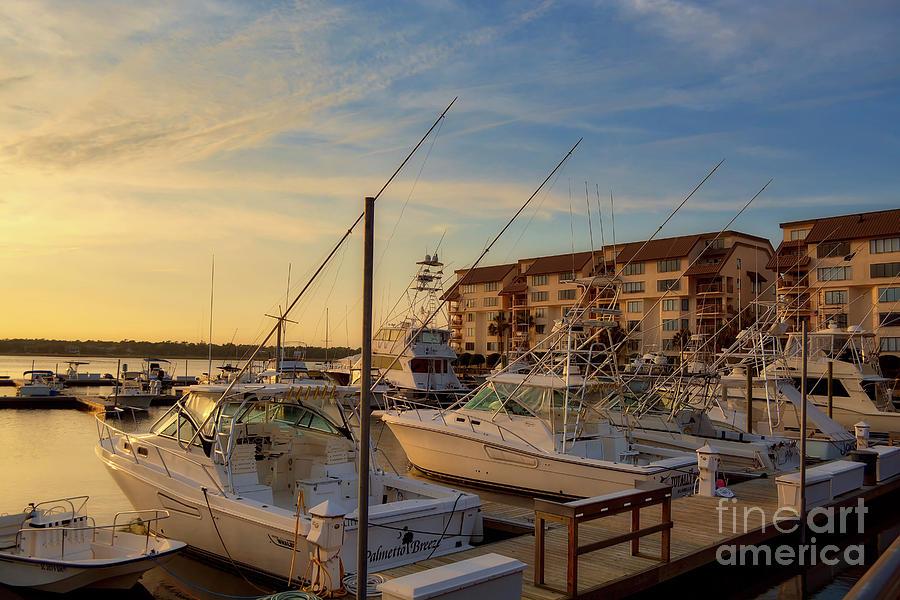 Near Sunset At The Marina by Kathy Baccari