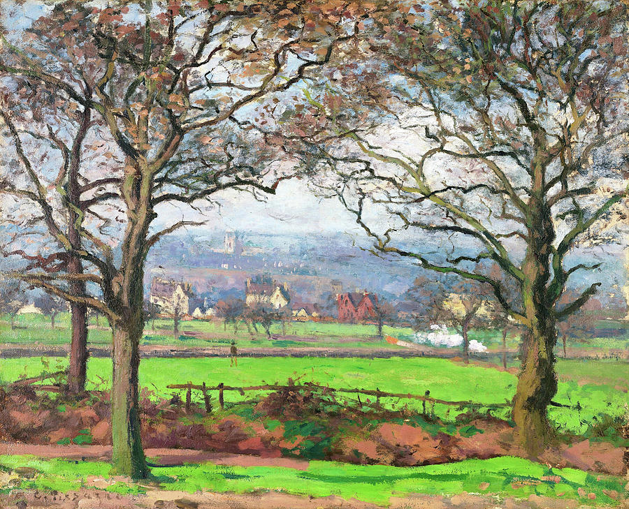 Camille Pissarro Painting - Near Sydenham Hill - Digital Remastered Edition by Camille Pissarro