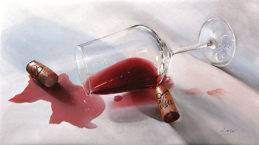 Wine Painting - Nebbiolo Cadia by Guido Borelli