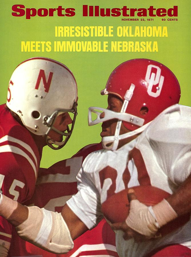 Nebraska Bob Terrio And Oklahoma Greg Pruitt Sports Illustrated Cover Photograph by Sports Illustrated