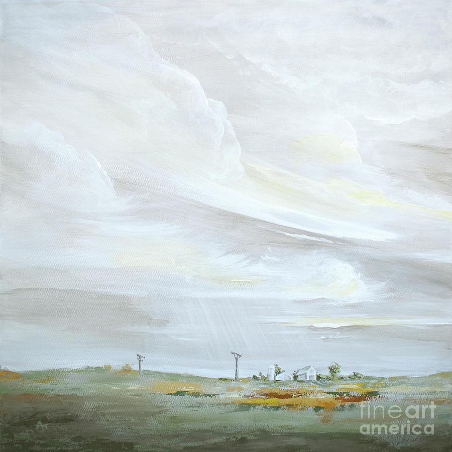 Nebraska Skies - Sage Left by Annie Troe
