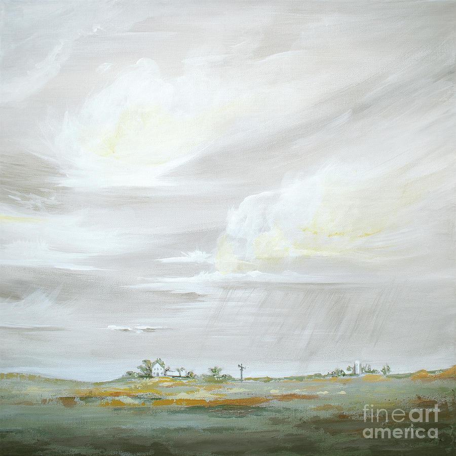 Nebraska Skies - Sage Right by Annie Troe