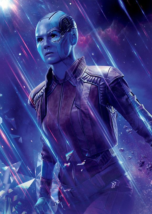 Iron Man Digital Art - Nebula Avengers Endgame by Geek N Rock
