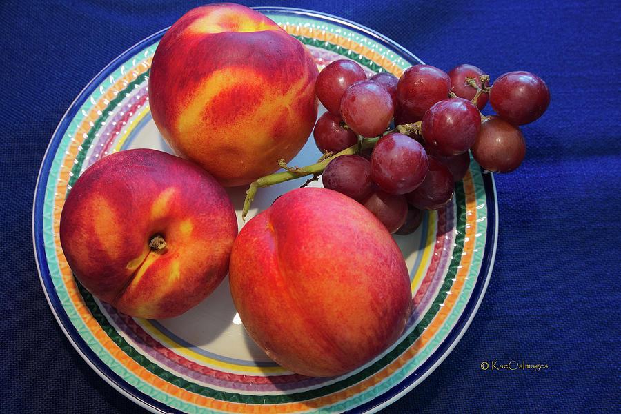 Nectarines and Grapes by Kae Cheatham