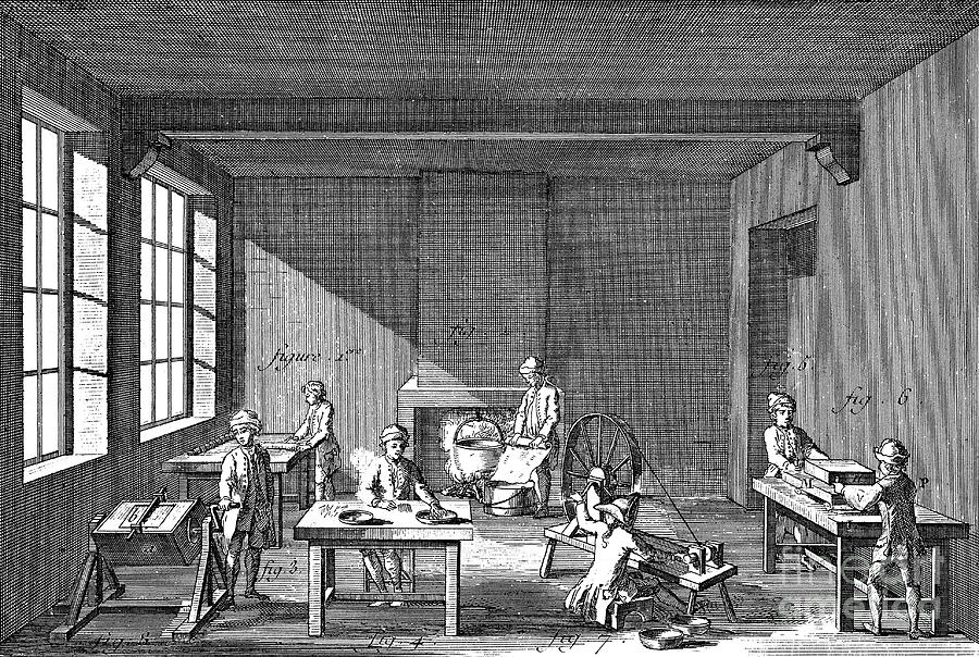 Needle-making, 1751-1780 Drawing by Print Collector