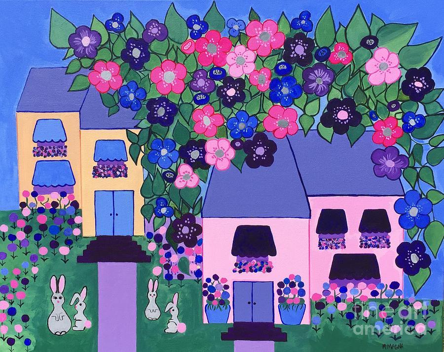 Neighborhood Rabbit Family by Marti Magna