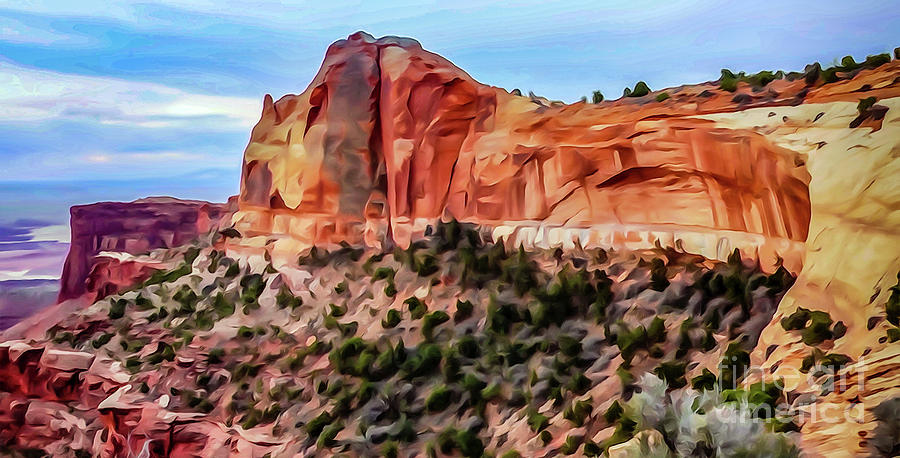 Mesa Arch Photograph - Neighboring Mesa Arch - Photopainting by Bob Lentz
