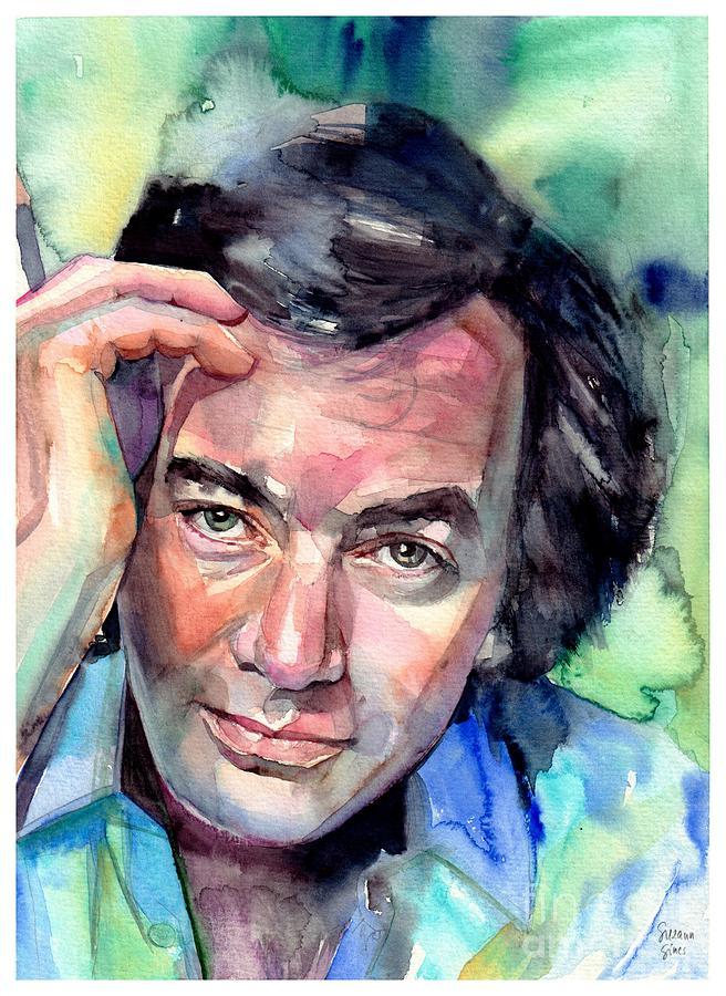 Neil Diamond Painting - Neil Diamond Portrait I by Suzann Sines