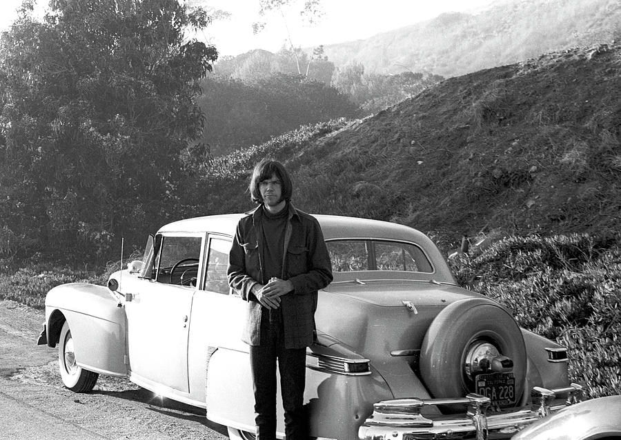 Neil Young And His Classic Car Photograph by Michael Ochs Archives