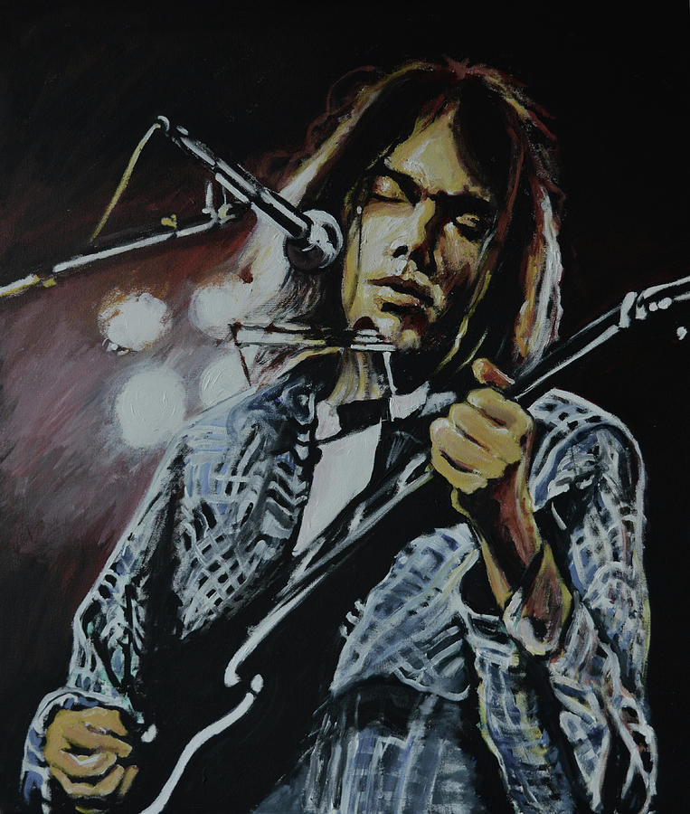 Neil Young Painting - Neil Young by Melissa OBrien