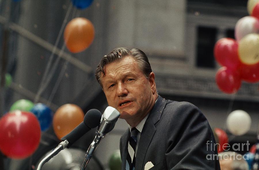 Nelson Rockefeller Speaking Photograph by Bettmann